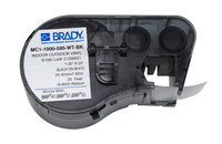 Brady MC1-1000-595-WT-BK White / Black Continuous Thermal Transfer Printer Label Cartridge - 99967