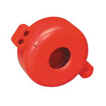 Brady Prinzing Red Polystyrene Gas Cylinder Lockout Device SD02M - Valve Stems up to 1.25 in Diameter Compatibility - 754476-46139
