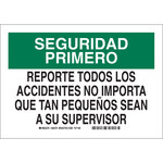 Brady B-401 Polystyrene Rectangle White Accident Notice Sign - 10 in Width x 7 in Height - Language Spanish - 38780