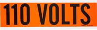 Brady 44101 Black on Orange Rectangle Vinyl Cloth Conduit / Voltage Marker - 9 in Width - 2 1/4 in Height - B-498