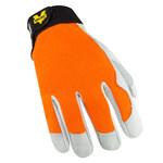 Valeo V258 Orange Large Goatskin Kevlar/Leather Cut-Resistant Gloves - ANSI A3 Cut Resistance - VI9507LG