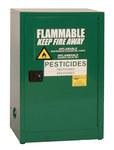 Eagle 12 gal Green Steel Hazardous Material Storage Cabinet - 23 in Width - 35 in Height - Bench Top - 048441-33487