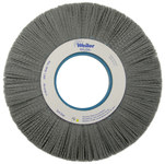 Weiler Silicon Carbide Wheel Brush 0.04 in Bristle Diameter 80 Grit - Arbor Attachment - 10 in Outside Diameter - 2 in Center Hole Size - 83350
