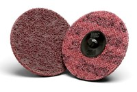 3M Scotch-Brite AL-DS Non-Woven Aluminum Oxide Maroon Surface Conditioning Quick Change Disc - Cloth Backing - A Weight - Medium - 2 in Diameter - 54115