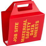 Brady Yellow on Red MSDS & GHS Data Sheet Binder - JOB SITE MATERIAL SAFETY DATA SHEETS - English - 754476-46077