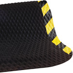 Shipping Supply Hog Heaven Black/Yellow Mats - 3 ft x 2 ft - SHP-13809