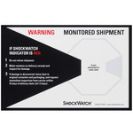 White/Black Shock Watch Companion Labels - 200 PER CASE - 1.1 in x 1.8 in x.2 in - SHP-8362