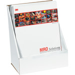 Shipping Supply Oyster White Literature Counter Display - 9.375 in x 5.5 in x 11.1875 in - SHP-2835