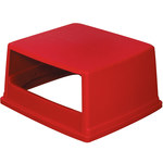 Shipping Supply Glutton Red Trash Can Lid - 26 5/8 in x 23 in x 13 in - SHP-14129