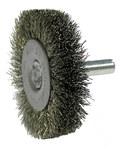 Weiler Steel Radial Bristle Brush - 2 in Outside Diameter - 0.006 in Bristle Diameter - 17954