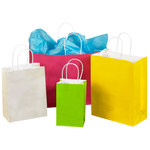 French Vanilla Shopping Bags - 6 in x 16 in x 12 in - SHP-3949
