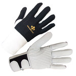 Impacto 473-31 RH Black/White Medium Leather/Nylon/Spandex/Visco-Elastic Polymer Work Glove - 47331110032