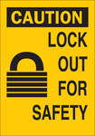 Brady B-401 Polystyrene Rectangle Yellow Lockout Sign - 10 in Width x 14 in Height - 22910