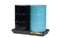 Justrite Black/Blue Ecopolyblend 2500 lb 24 gal Spill Pallet - Supports 2 Drums - 49 in Width - 25 in Length - 5 1/2 in Height - 28655