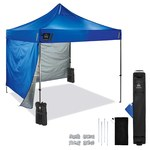 Ergodyne SHAX 6051 Blue Polyester Pop-Up Tent Kit - 10 ft - 14 ft Height - 12952