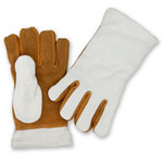 Chicago Protective Apparel Tan Leather Heat-Resistant Glove - 11 in Length - 111-GL
