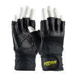 PIP Maximum Safety 122-AV20 Black Large Sheepskin Leather Work Gloves - 7.4 in Length - 122-AV20/L