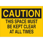 Brady B-120 Fiberglass Reinforced Polyester Yellow Keep Clear Sign - 10 in Width x 7 in Height - 122835