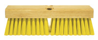 Weiler Green Works 423 Rectangular Scrub Brush - Yellow Bristle - Rubberwood Block - 42371