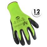 Valeo V800 Green/Black Large Nylon Work Gloves - Nitrile Coating - VI9583LG