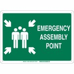 Brady B-120 Fiberglass Rectangle Green IMO Evacuation Sign - 14 in Width x 10 in Height - 139595