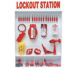 Brady Red/White Polystyrene Lockout Device Station - 25 in Width - 30 in Height - 754476-99693