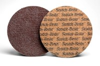 3M Scotch-Brite Non-Woven Aluminum Oxide Brown Aluminum Surface Conditioning Hook & Loop Disc - Nylon Backing - A Weight - Coarse - 1 1/2 in Diameter - 54197