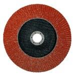 Standard Abrasives Type 27 Ceramic Flap Disc - 80 Grit - Medium - 4 1/2 in Diameter - 7/8 in Center Hole - 645027
