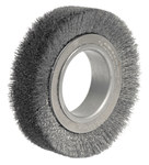 Weiler Steel Wheel Brush 0.014 in Bristle Diameter - Arbor Attachment - 4 1/2 in Outside Diameter - 2 in Center Hole Size - 03020