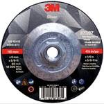 3M Silver Ceramic Depressed-Center Grinding Wheel - 4 1/2 in Diameter - 87397