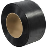 Black Poly Strapping - 9000 ft x 0.5 in - SHP-7232