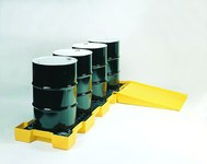 Eagle Yellow High Density Polyethylene 1500 lb Ramp - 32 in Width - 45 1/2 in Length - 8 in Height - 048441-60182