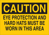 Brady B-401 Polystyrene Rectangle Yellow PPE Sign - 10 in Width x 7 in Height - 25200