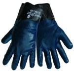 Global Glove 417NC Blue 9 Knit Work Gloves - Nitrile Full Coverage Coating - 417NC/9