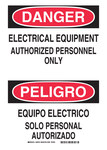Brady B-401 Polystyrene Rectangle White Electrical Safety Sign - 14 in Width x 10 in Height - Language English / Spanish - 38729