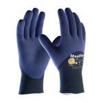 PIP MaxiFlex Elite 34-275 Blue on Blue Large Nylon Work Gloves - EN 388 1 Cut Resistance - Nitrile Palm & Over Knuckles Coating - 8.9 in Length - 34-275/L
