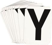 Brady Quik-Align 8215-Y Black Vinyl Letter Label - Outdoor - 3 in Height - 3 in Character Height - B-933