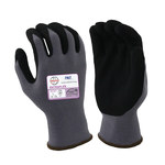 Armor Guys ExtraFlex HCT 04-001 Gray/Black Large Nylon Work Gloves - Nitrile Foam Palm & Fingers Coating - 04-001-L