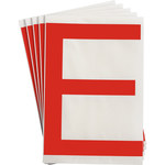 Brady Toughstripe 121717 Red Polyester Letter Label - Indoor - 6 in Width - 8 in Height - 8 in Character Height - B-514