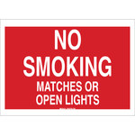 Brady B-120 Fiberglass Reinforced Polyester Rectangle Red No Smoking Sign - 20 in Width x 14 in Height - 72097