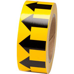 Brady 91420 Black on Yellow Directional Flow Arrow Tape - 2 in Width - 30 yd Length - B-946