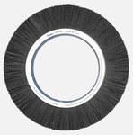 Weiler Ceramic Wheel Brush 0.055 in Bristle Diameter 80 Grit - Shank Attachment - 14 in Outside Diameter - 83405