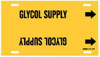 Brady 4190-F Black on Yellow Plastic Other Liquid Strap-On Pipe Marker - 1 1/4 in Character Height with Right Arrow - B-915