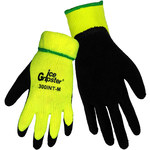 Global Glove Ice Gripster 300INT Black/Yellow Large Acrylic/Terry Cloth Cold Condition Gloves - Rubber Coating - Terry Insulation - 300INT/LG