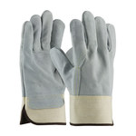 PIP 80-8844 White Large Split Cowhide Leather Work Gloves - Wing Thumb - 10.5 in Length - 80-8844/L