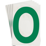 Brady Toughstripe 121778 Green Polyester Letter Label - Indoor - 6 in Width - 8 in Height - 8 in Character Height - B-514