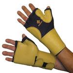 Impacto 706-20 Black/Yellow Medium Grain Leather/Nylon/Spandex Work Glove - 70620120032