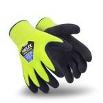 HexArmor Helix 2077 Yellow/Black 9 Acrylic/Fiberglass Cold Condition Glove - Nitrile Palm & Fingers Coating - Fleece Insulation - Rough Finish - 2077-L (9)
