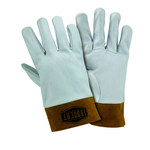 West Chester 6140 Off-White Large Grain Cowhide Leather Welding Glove - Straight Thumb - 10.125 in Length - 6140/L