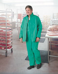 Dunlop Sanitex 71250 Green Large Nylon Polyester/PVC Chemical-Resistant Overalls - 30 in Inseam - 791079-14745